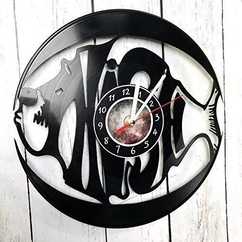 AlinasSHOP Phish Wall Clock Made of Vinyl Record - Handmade - Unique Design - Great Gifts idea for Birthday, Wedding, Anniversary, Women, Men, Friends, Girlfriend Boyfriend and Teens, Music, Singer
