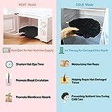 Hair Cap for Deep Heat Conditioning, SXG Steamer for Hair Treatment Heat Cap, Cordless Hair Therapy Wrap, Thermal Hair Cap Micro, Steam Caps for Oil Treatments, Heat Gel Cap - Black