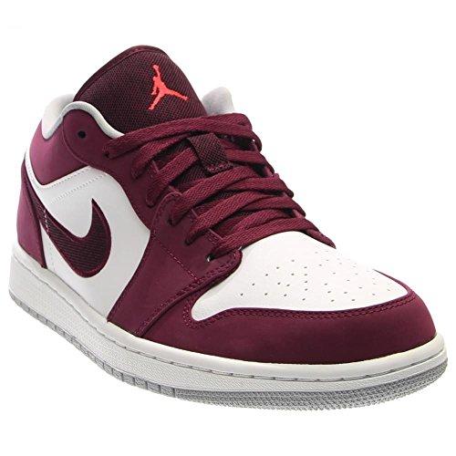 Nike Jordan Men's Air Jordan 1 Low Brdx/Infrrd 23/White/Wlf Gry Basketball Shoe 13 Men US (Jordan Flight 1 Low)