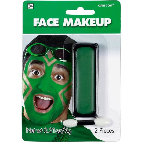 Party Perfect Team Spirit Cream Face Makeup Accessory, Green, Non Toxic , .21Ounces