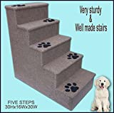 Dog steps. Doggy stairs.Pet furniture, Dogs furniture. 30 inches tall wooden dog steps, pet stairs