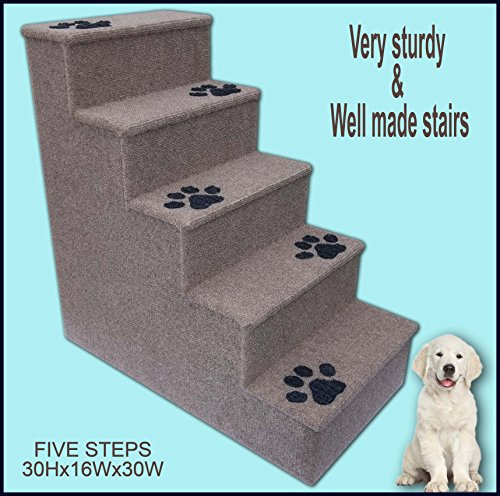 Dog steps. Doggy stairs.Pet furniture, Dogs furniture. 30 inches tall wooden dog steps, pet stairs by Navarce