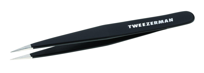 Tweezerman Stainless Steel Point Tweezer in Assorted Colors