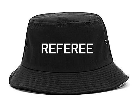 Amazon.com  Referee Soccer Football Bucket Hat Black  Clothing 7e05a8b7a56