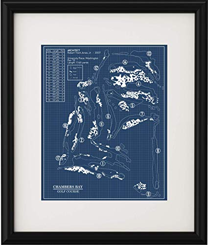 Chambers Bay Golf Course Blueprint (Print)