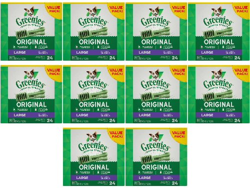 Greenies Dental Chews Value Size Large 240ct (10 x 24ct) by Greenies