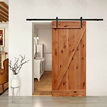 Charmant Barn Door Kit Complete W/Knotty Alder Door And Hardware 36in X 84in      Amazon.com