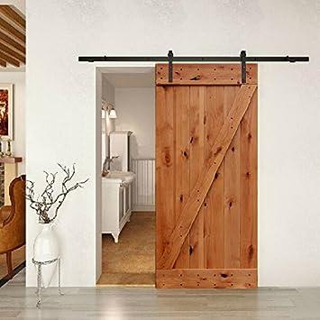 Barn Door Kit Complete w/Knotty Alder Door and Hardware 36in x 84in & Barn Door Kit Complete w/Knotty Alder Door and Hardware 36in x 84in ...
