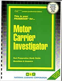 Motor Carrier Investigator Passbooks Career Examination