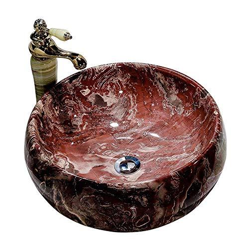 SEEKSUNGM Washbasin, Ceramic Washbasin, Home Bathroom Art Basin, Suitable for Hotel Family Bathroom Tower, Size: 44 41 16CM