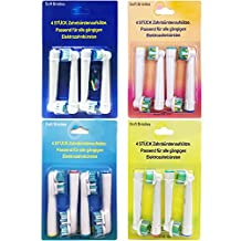 Shangboyi 16 Pcs Generic Premium Replacement Toothbrush Heads For Braun Oral B, Includes 4pcs SB-17A & 4pcs EB-25A & 4pcs SB-417A, compatible for Braun Oral B Precision Clean, 3D White, Floss Action, Dual Clean, etc.