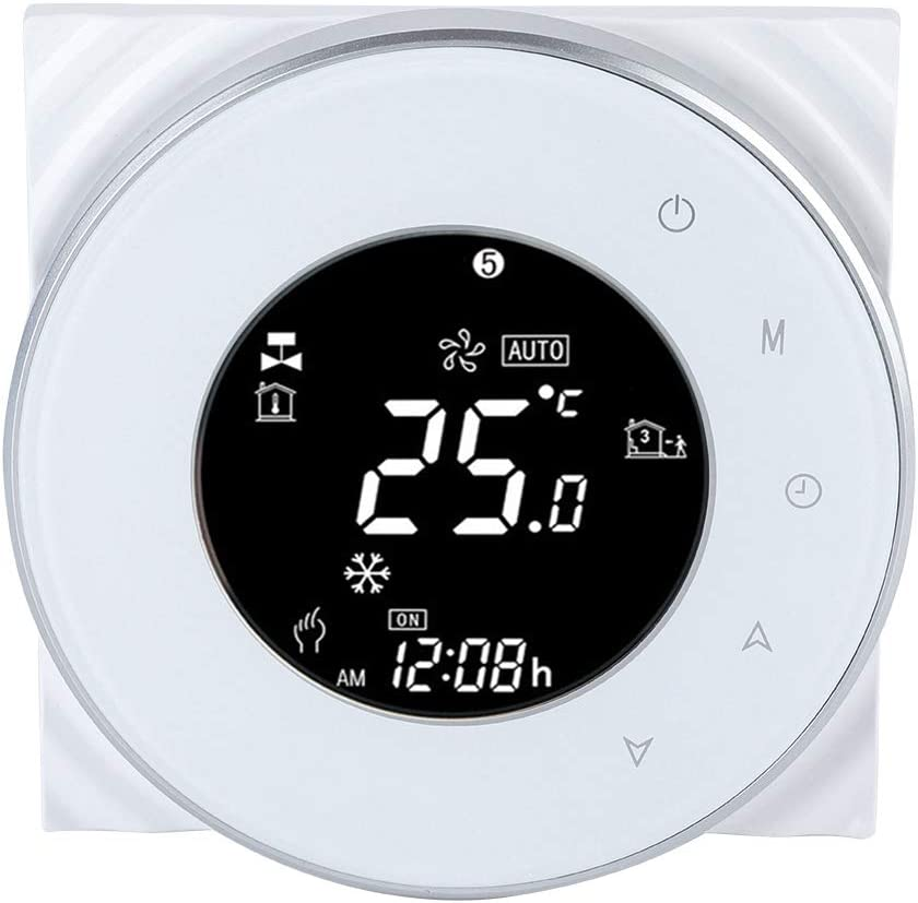 WIFI Temperature Controller, Intelligent Energy-saving Central Air Conditioning Water Floor Heating LCD Touch Screen Thermostat