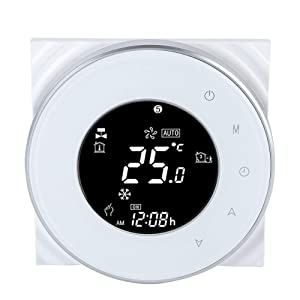 Water Heating Thermostat WIFI Water Boiler Thermostat LCD Touch Screen for Electric Heating