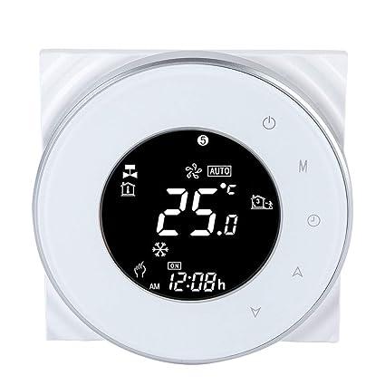 24 Volt Thermostat Wiring Diagram, Water Heating Thermostat Wifi Water Boiler Thermostat Lcd Touch Screen For Electric Heating, 24 Volt Thermostat Wiring Diagram