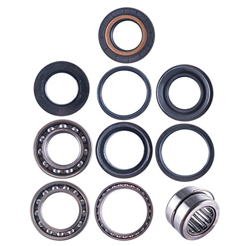 (East Lake Axle Rear differential bearing & seal kit compatible with Honda TRX 420 2007 2008 2009 2010 2011-13)
