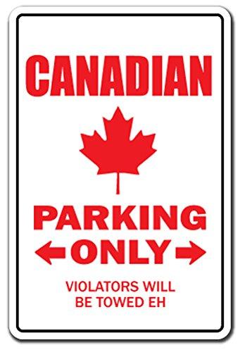 [SignJoker] CANADIAN ~Novelty Sign~ parking canada flag leaf gift Wall Plaque Decoration