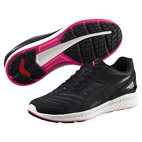 Puma Ignitev2wnsf6, Scarpe da Atletica Leggera Donna Nero (Blk/Wht/Pink 07blk/Wht/Pink 07)