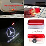LIGHTUPRO 2 pieces LED Logo projector Auto Accessories Door Step Courtesy Light Welcome lamp Attractive Shadow Image (for Benz door)