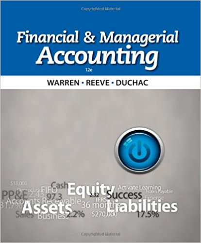 Financial Managerial Accounting Carl S Warren James M