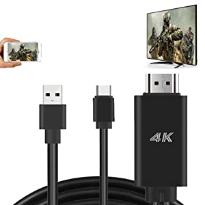 MHL HDMI Adapter HDTV Cable for Samsung Galaxy S10 S9 Plus S8 Note 8 LG G6 G5 Stylo 6 5 4 Android Device MacBook USB Type C Cell Phone Mirroring to TV Monitor Projector HD Digital AV Video Converter