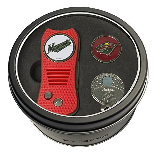 NHL Minnesota Wild Tin Gift Set with Switchfix Divot Tool, Cap Clip, and Ball Marker