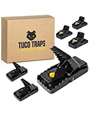 Tuco Traps, Mouse Trap Indoor and Outdoor, Easy Set, Safe and Reusable, Upgraded Mice Traps, 6 Pack