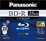 Panasonic Blu-ray Disc 20 Pack - 25GB 6X BD-R - 2010 Version