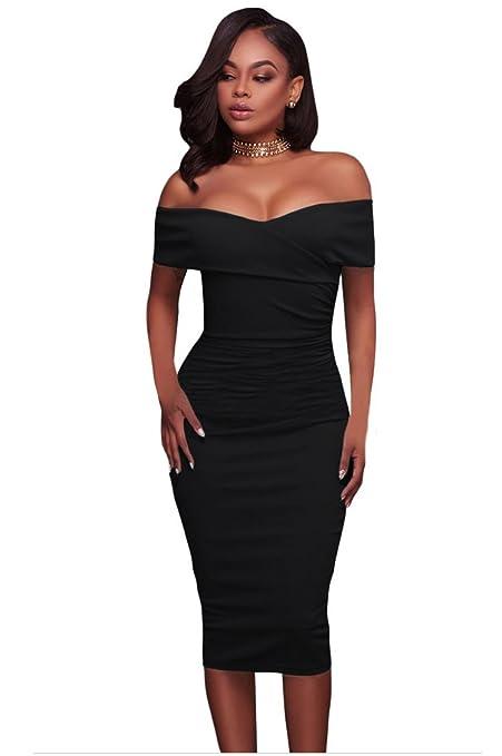 5f0792f092c22 FMY Evento social para mujer Vestido de noche con hombros descubiertos y  espalda descubierta para mujer