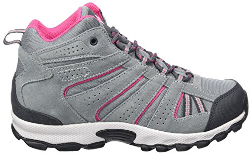 Columbia Youth North Plains Mid Waterproof - Botas de senderismo Niñas Gris (Grey Ash/ Ultra Pink)