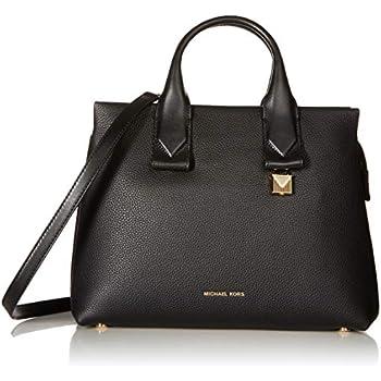 90a6b47390b2 Michael Kors Rollins Large Pebbled Leather Satchel- Acorn: Handbags ...