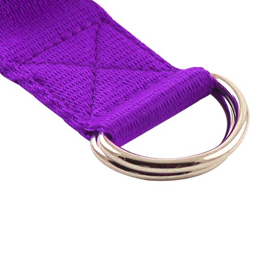 Fit Spirit 6ft Fitness Exercise Yoga Strap - Purple