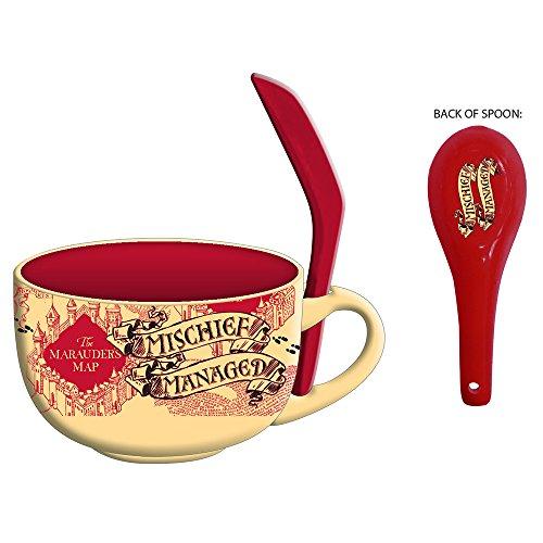 Silver Buffalo HP2724SB Harry Potter Marauder's Map Ceramic Soup Mug, 24-Ounces (Soup Ceramic Mug)