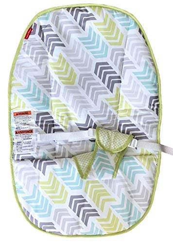 Replacement Seat Pad/Cushion / Cover for Fisher-Price Bouncer (DTG94) Green/Aqua/Grey Arrow