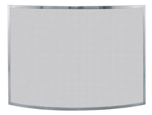 Uniflame, S-1613, Single Panel Curved Pewter Finish Screen ()