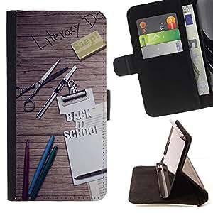 Momo Phone Case / Flip Funda de Cuero Case Cover - Aprender cita de motivación Escuela Slogan - Samsung Galaxy S6 Edge Plus / S6 Edge+ G928