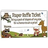50 Woodland Diaper Raffle Tickets - Boy Baby Shower...