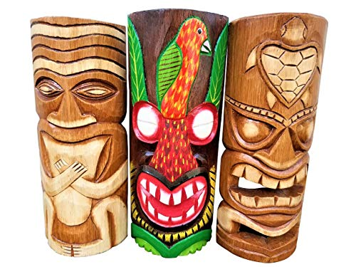 (All Seas Imports Set of (3) Wooden Handcarved 12