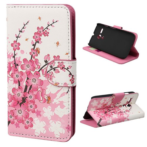 New Hard Phone (2014 New Wallet Pu Leather Magnetic Flip Hard Case Cover Stand for Motorola Moto G (White peach) )