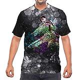 Idakoos Colorful Jiu Jitsu Print 3D Men V-Neck T-Shirt Polyester Size 2XL