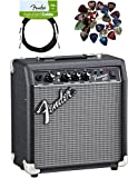 Fender Frontman 10G Electric Guitar Amplifier Bundle with Instrument Cable and Austin Bazaar Polishing Cloth