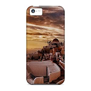 JessyLoisel Design High Quality Santorini Sunset Covers Cases With Excellent Style For Iphone 5c