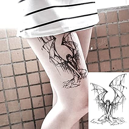 Cuerpo de klebbare temporales tatuaje Tattoo Pegatinas Ángel Alas ...