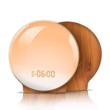 ZDGM Luz Nocturna,Wake Up Light Despertador Luz LED ...