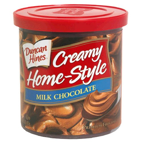 Duncan Hines Creamy Home-Style Frosting, Milk Chocolate, 16 oz (1 lb) 453 g (Chocolate Icing Mix)