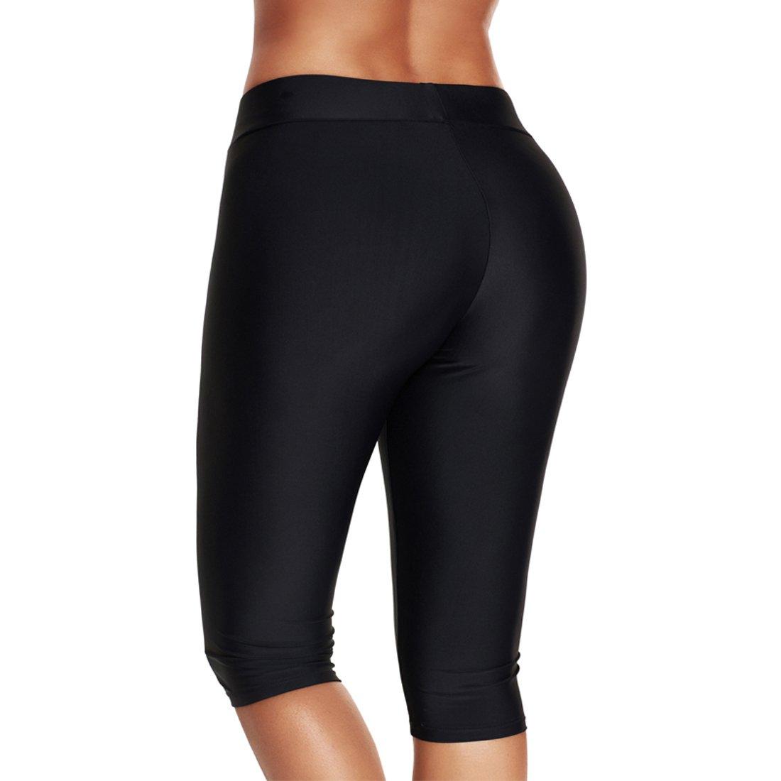 GOTIMAL Damen Badeshorts Leggings 3//4 Sporthose Badeanzug Schwimmshorts Badehose Wassersport Pants