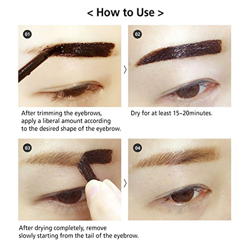 Reddy long lasting tattoo eyebrow pack 10g peel off 7 for Tattoo eyebrow tint