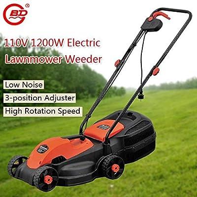 Bazaar BODA 110V 1200W Electric Lawn Mower Hand-push Gardening Grass Trimmer Weeding Machine