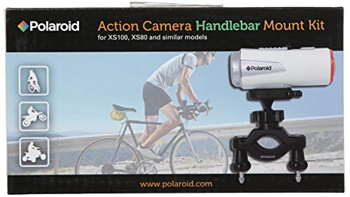 Polaroid Handlebar Mount for XS80HD and XS100HD Action Video Cameras,Black