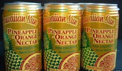 Hawaiian Sun Pineapple Orange Nectar Juice (12 Cans)