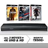Samsung (UBD-K8500) 3D Wi-Fi 4K Ultra HD Blu-ray Player + 4K UHD 3 Movies Bundle Pack (Logan + Argo + Assassin's Creed)